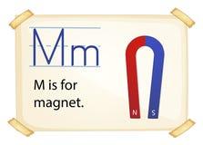 磁铁的一封信件M 库存例证