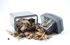 磨削器和小块铅笔 免版税库存图片