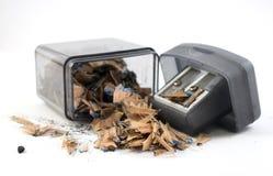 磨削器和小块铅笔 免版税库存照片