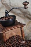 磨咖啡器指南 库存照片