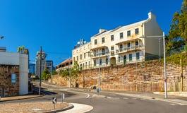 磨工点区看法在悉尼,澳大利亚 免版税库存照片