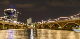 磨房大道桥梁在坦佩, AZ 图库摄影