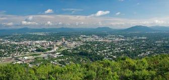 从磨房山,弗吉尼亚,美国的罗阿诺克谷 免版税图库摄影
