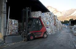 磨房纸工厂黏浆状物质回收 免版税库存照片