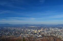 从磨房Mountian的罗阿诺克市俯视 免版税库存照片