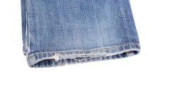 磨损的作用牛仔裤 库存图片