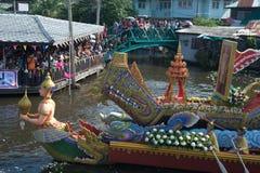 磨擦Bua节日(莲花投掷的节日)在泰国 免版税图库摄影