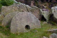磨石在高峰区英国 免版税库存照片