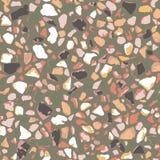 磨石子地地板,无缝的样式,棕色背景纹理 印刷品的抽象传染媒介设计在地板、墙壁、瓦片或者纺织品上 皇族释放例证