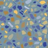 磨石子地无缝的瓦片摘要蓝色背景纹理  皇族释放例证