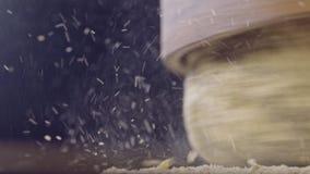 磨石研的麦子宏观射击  影视素材