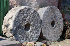 磨石轮子- Montemarcello利古里亚意大利 库存照片