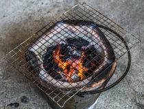 磨碎在黏土火炉 库存照片