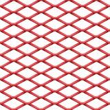 磨碎无缝的结构的红色铬钢 向量例证