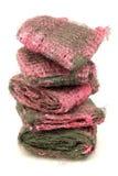 磨蚀填充用肥皂擦洗钢丝绒 库存照片