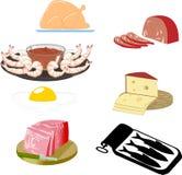 示例食物 皇族释放例证