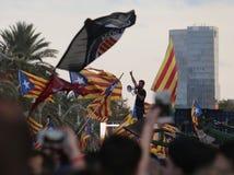 示威者在巴塞罗那 免版税库存图片