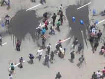 示威者在Narobi 免版税库存照片