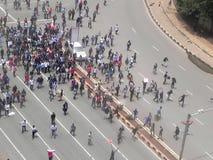 示威者在Narobi 库存照片