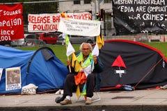 示威者威斯敏斯特 库存图片