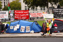 示威者威斯敏斯特 免版税库存照片