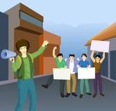 示范参加者 免版税库存图片