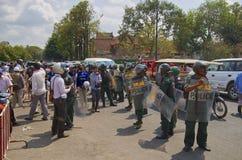 示范在Phnom Phen 免版税图库摄影