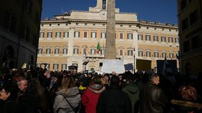 示范意大利的地震中央 股票录像