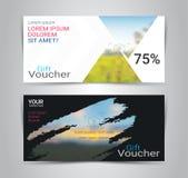 礼券卡片或横幅网模板有被弄脏的背景 免版税库存图片