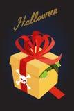 礼品万圣节 箱子的妖怪 恐惧 一件可怕的礼物 库存照片
