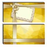 礼品券,丝带,文本的地方 免版税图库摄影