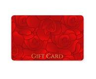 礼品券/折扣卡片/名片。花 库存照片