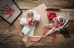礼品包装材料 库存图片