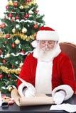 礼品单圣诞老人文字 免版税库存照片