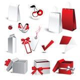 礼品和购物图标 库存照片