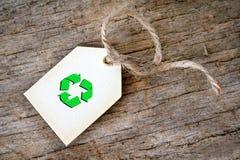 礼品回收标签 库存照片