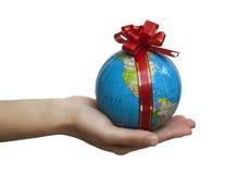 礼品地球 免版税库存图片