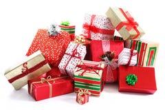 礼品堆 免版税库存图片