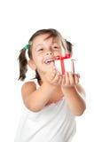 礼品女孩提供的一点 免版税库存图片