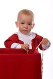 礼品小的圣诞老人 库存图片