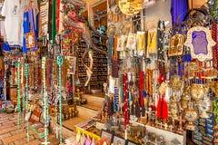 礼品店在耶路撒冷,以色列 库存图片
