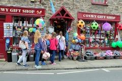 礼品店, Conwy,威尔士 库存照片