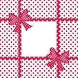 礼品弓和丝带框架 库存照片