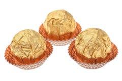 礼品想法包裹了巧克力糖。 免版税库存照片