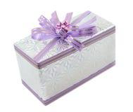 礼品查出的liliac白色 免版税库存照片