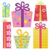 礼品查出被设置的存在 免版税库存照片
