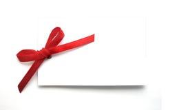 礼品标签白色 库存照片