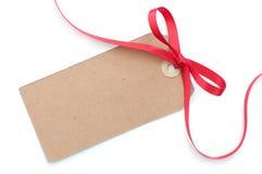 礼品标签 免版税库存图片