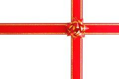 礼品红色丝带 免版税库存照片