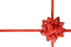 礼品红色丝带 库存照片